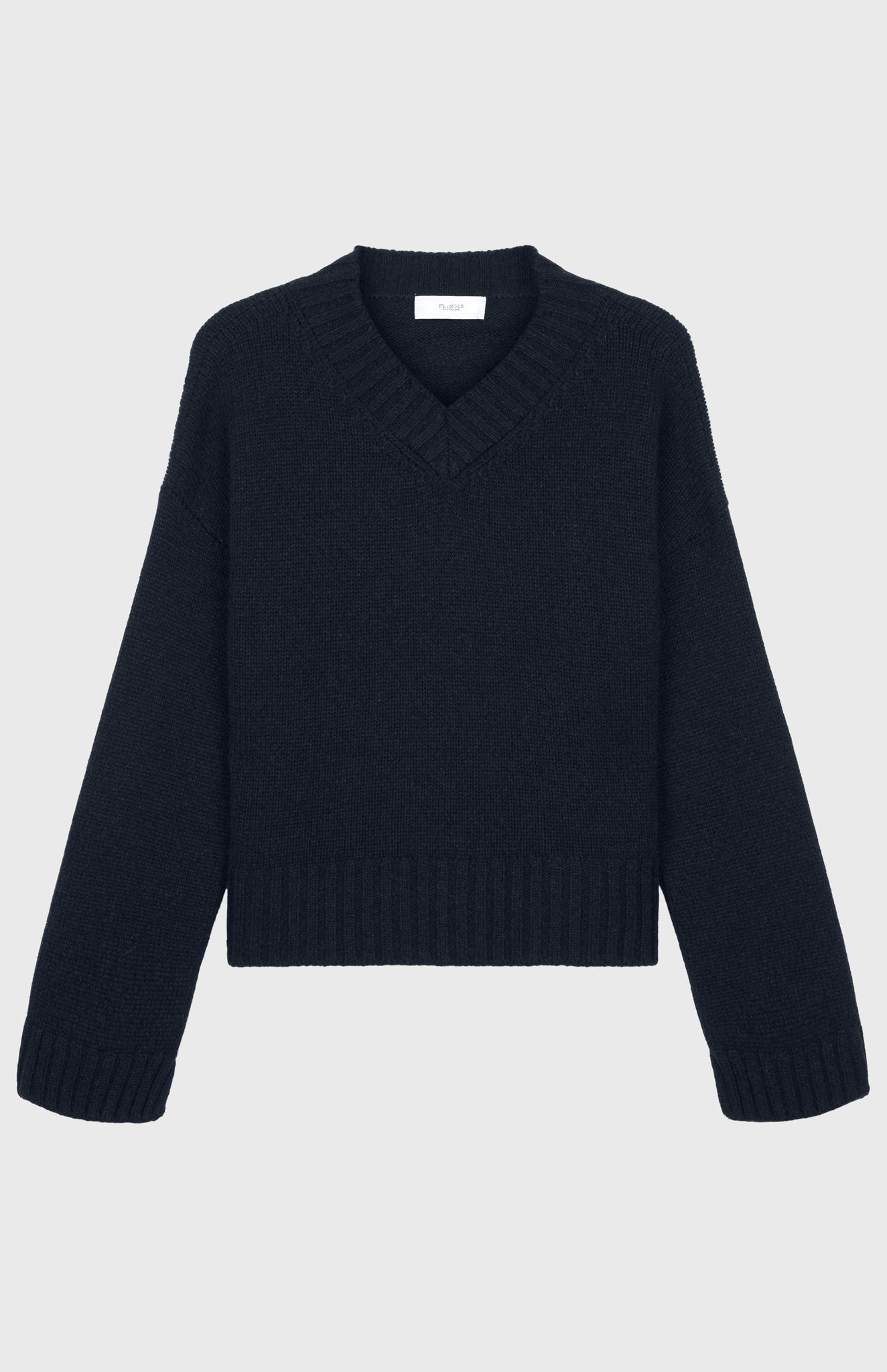 V Neck Jumper Cozy Cashmere Jumper In Midnight