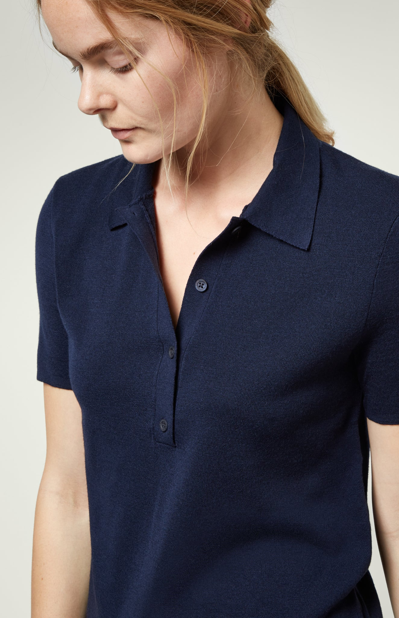 Polo Shirt In Dark Navy