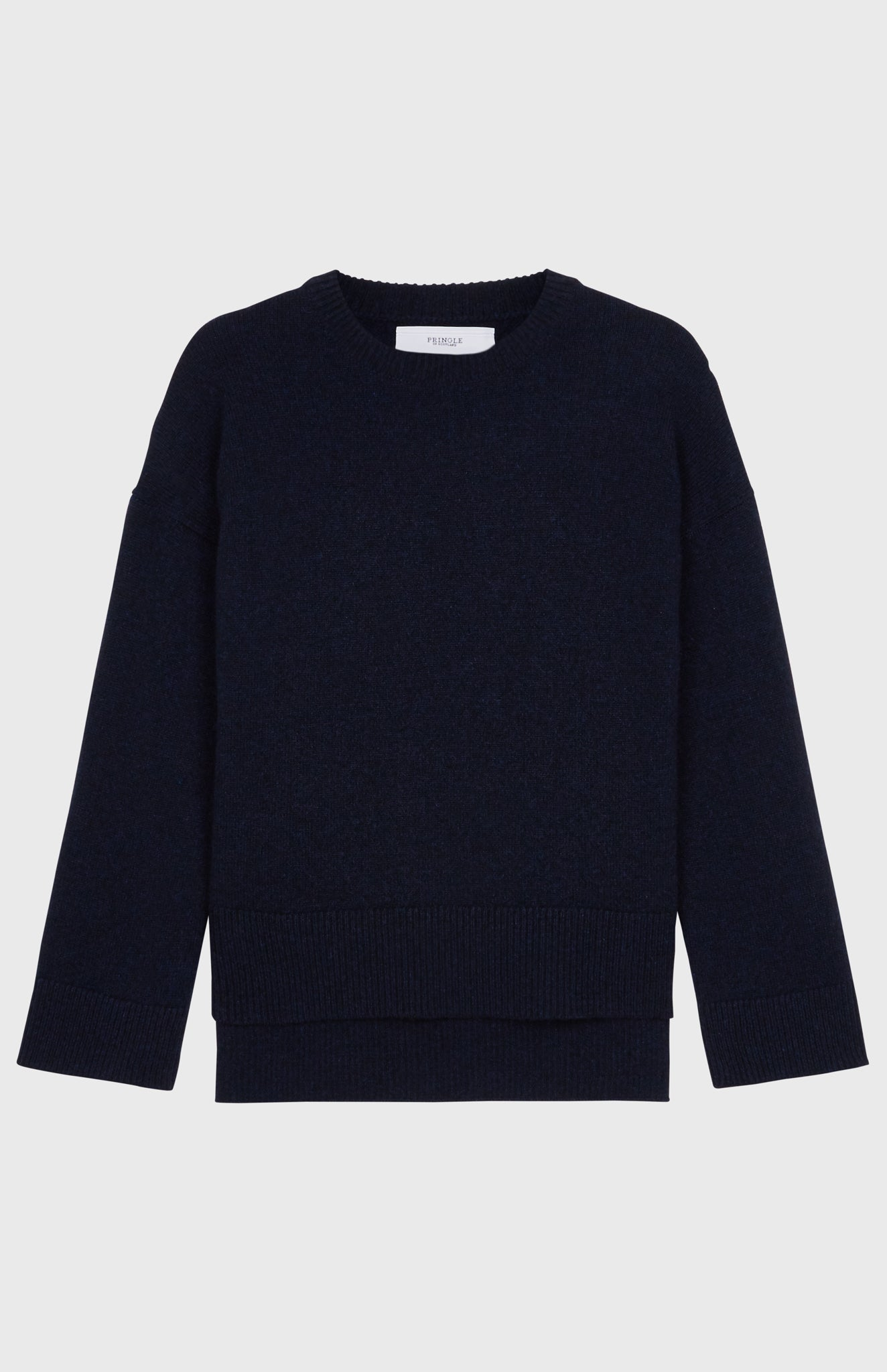 Round Neck Cosy Cashmere Jumper In Midnight