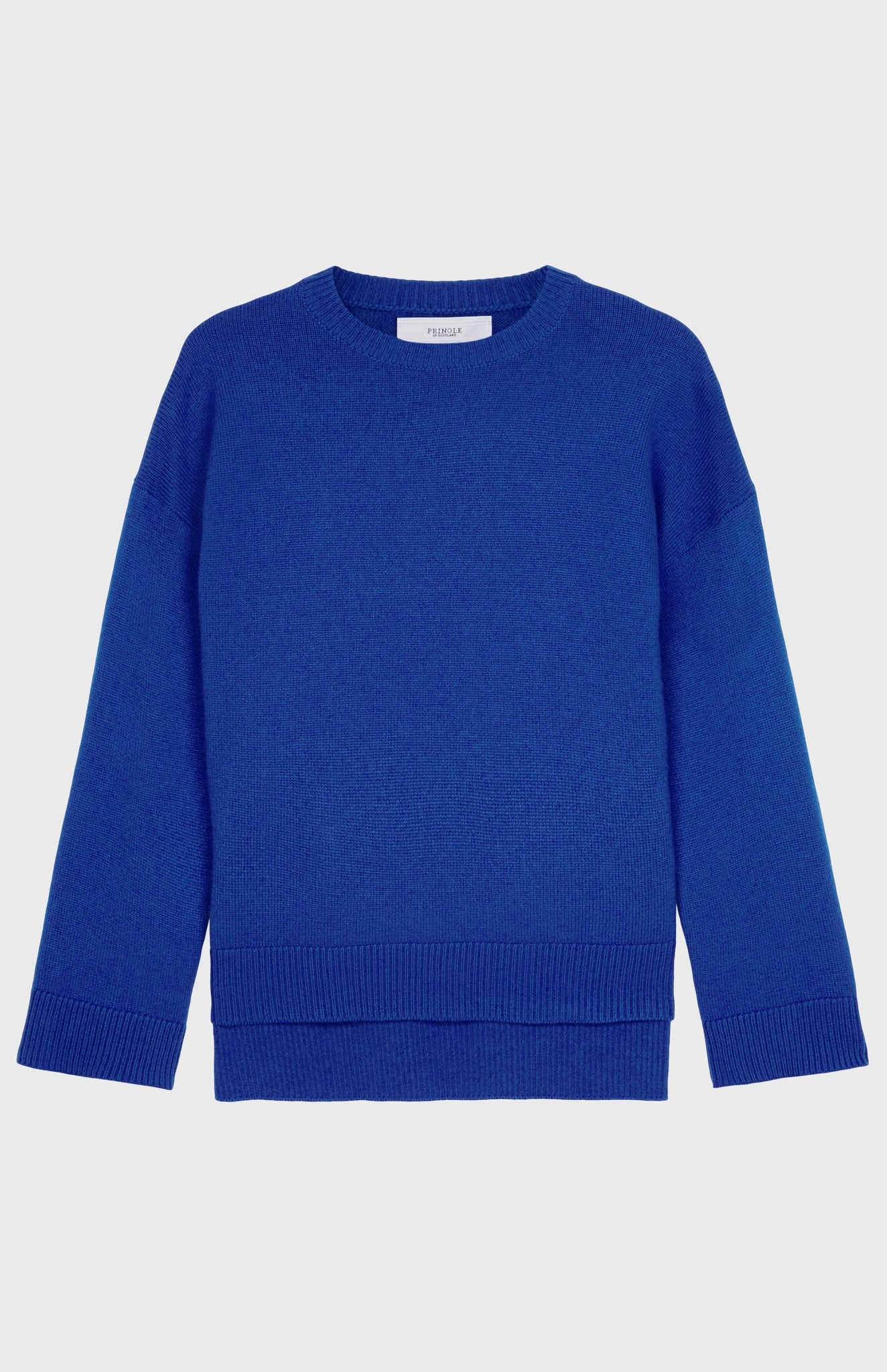 Round Neck Cosy Cashmere Jumper In Electric Blue