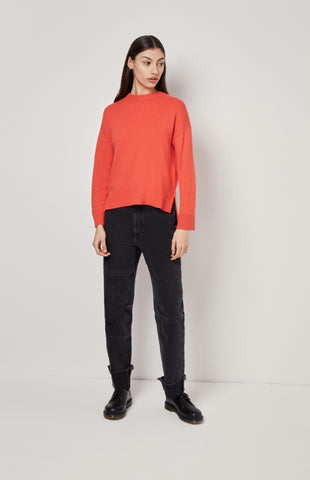 Cosy Cashmere Jumper In Orange