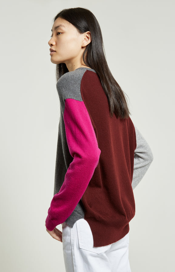 Colour Block Cashmere Jumper