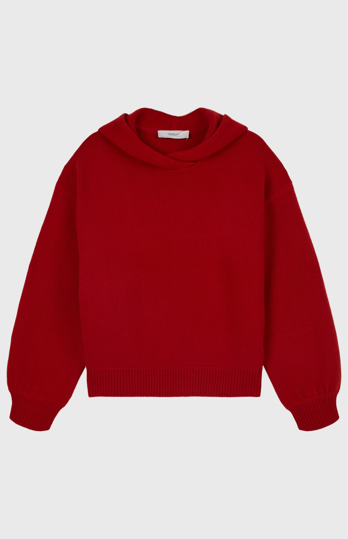 Volume Sleeve Hoodie In Red