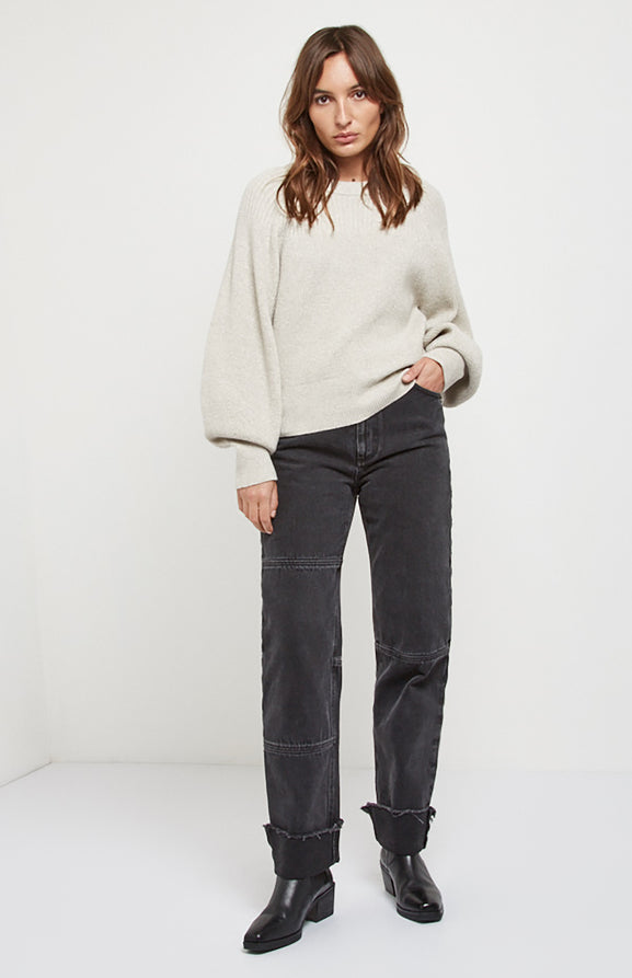 Textured Cashmere Jumper In Beige