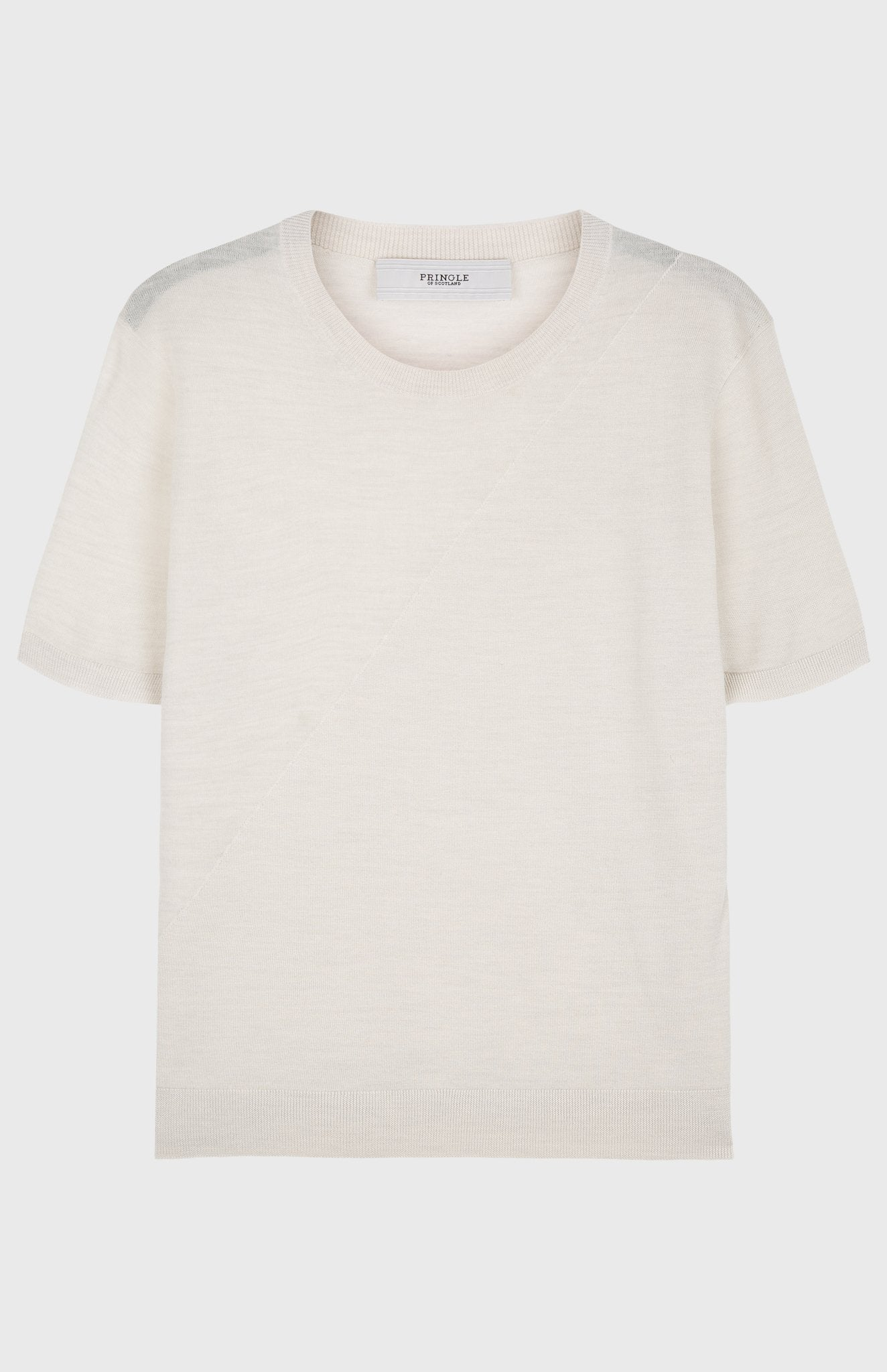 Women's Merino Silk T Shirt In Cream Melange