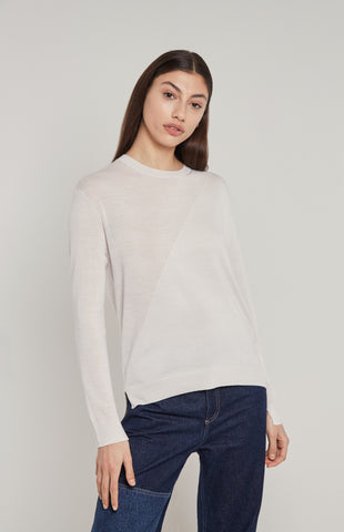 Merino Jumper In White