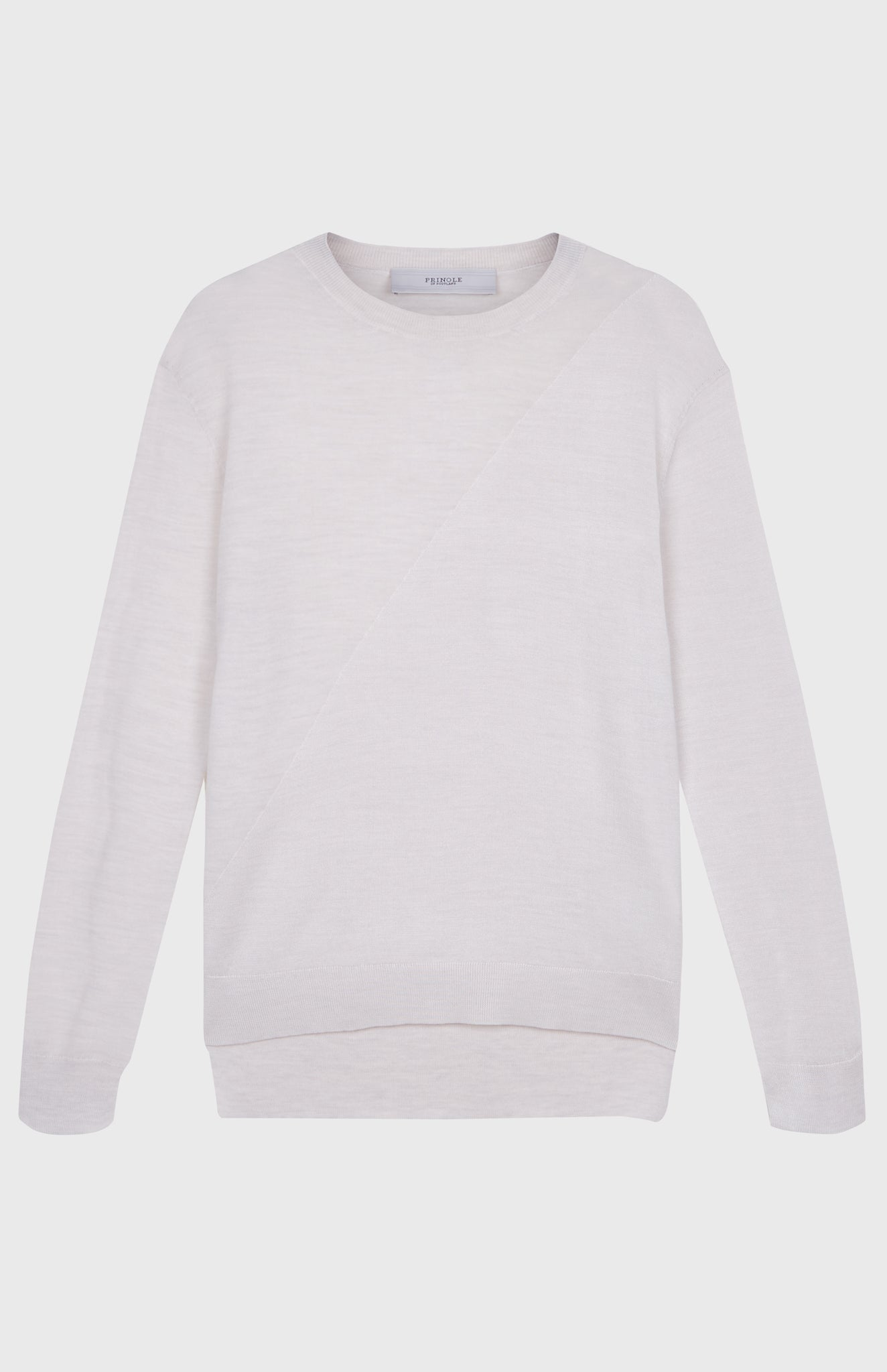 Women's Merino Silk Jumper In Cream Melange