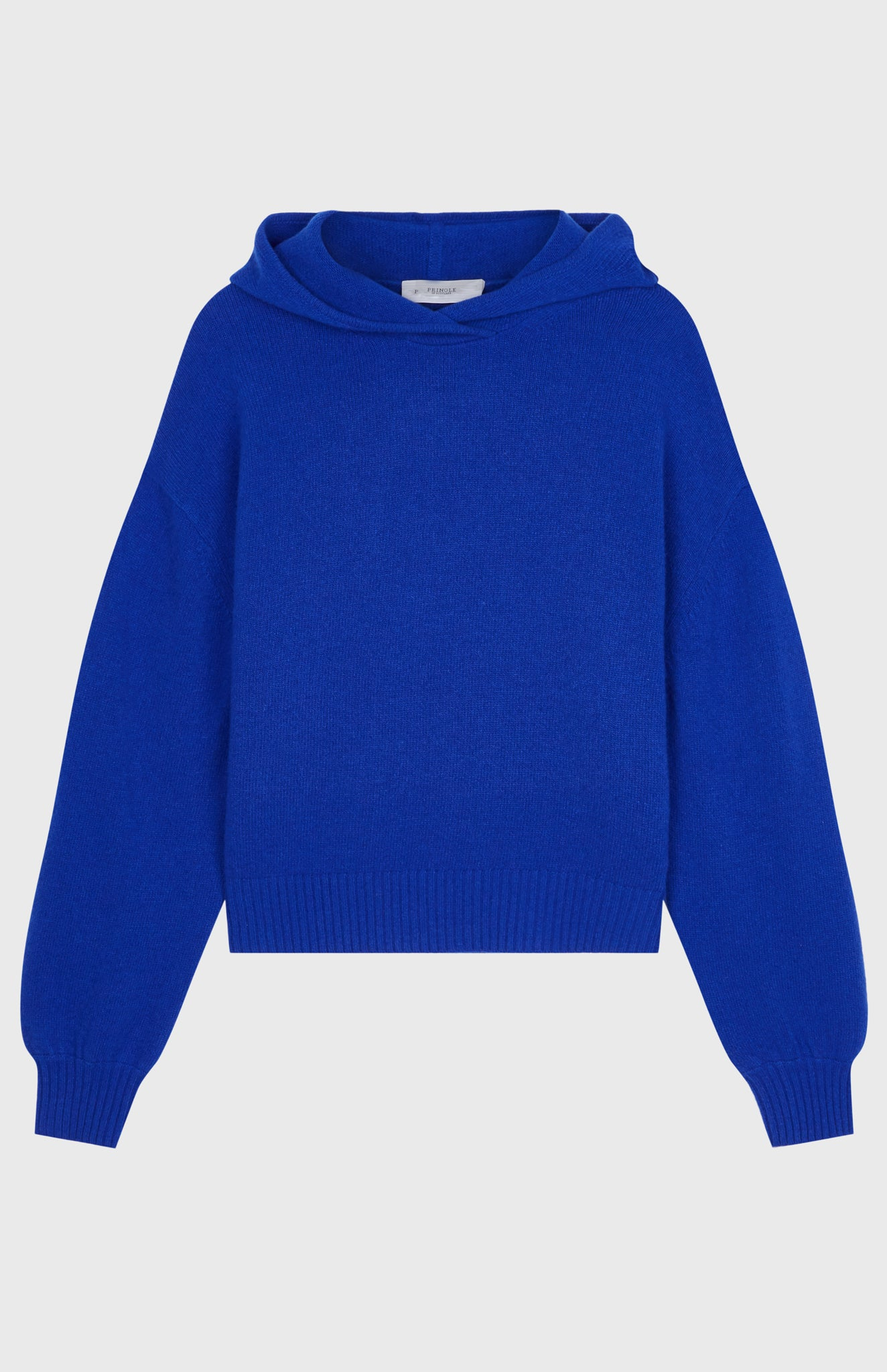 Women's Cashmere Blend Hoodie In Bright Blue