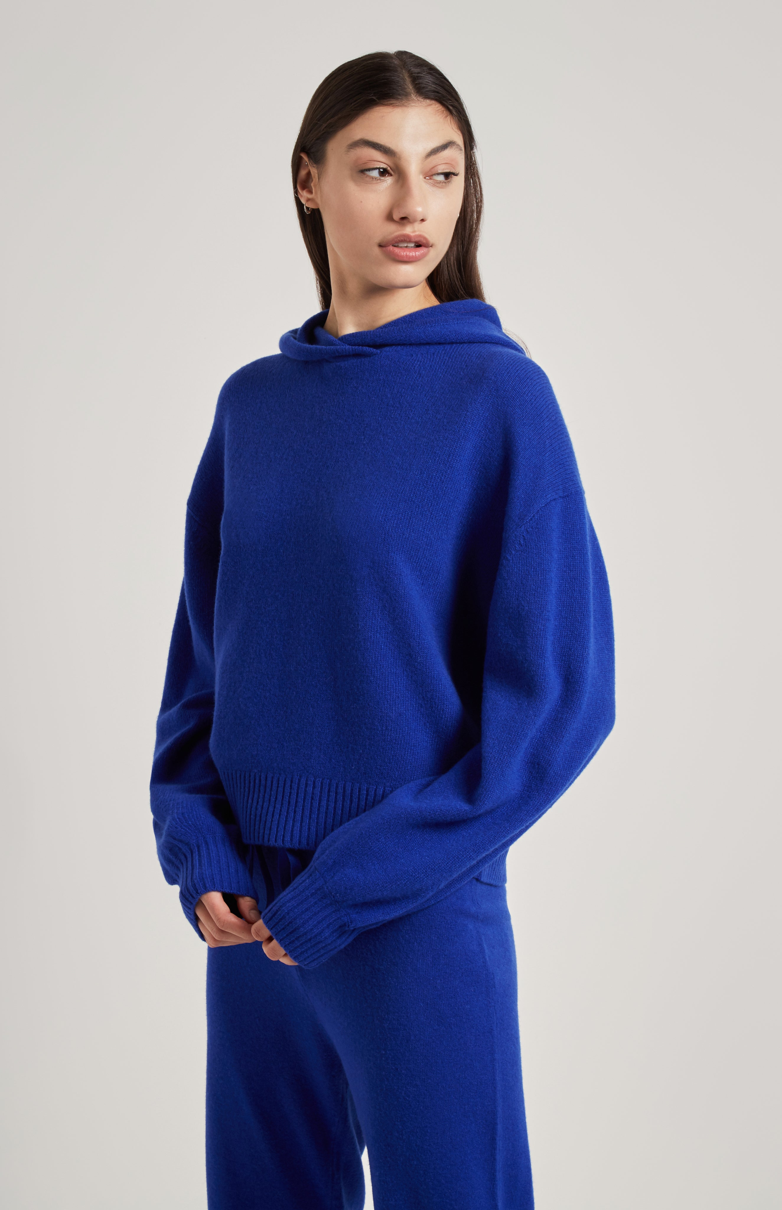 Cashmere Hoodie In Blue