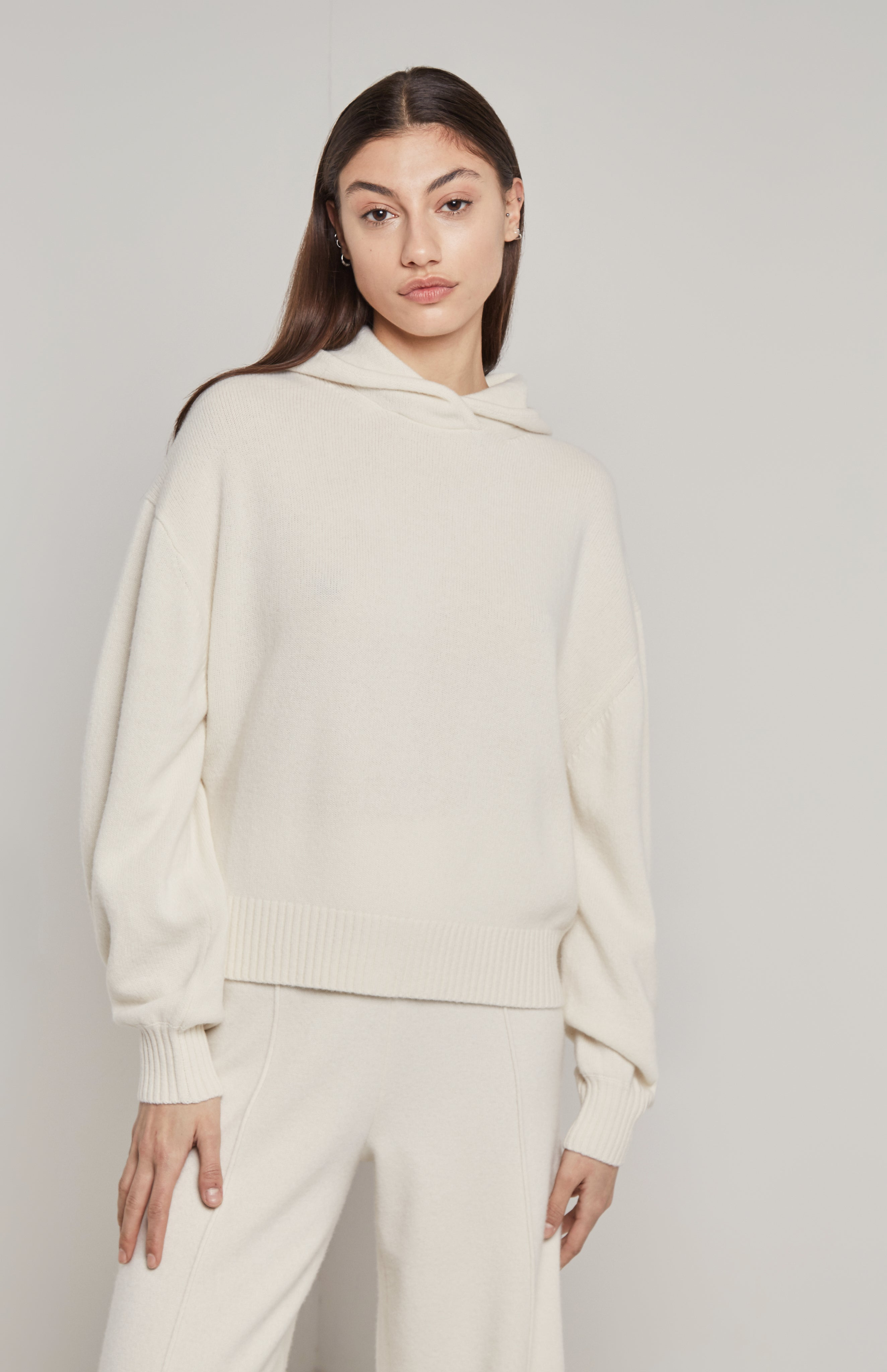 Cashmere Hoodie In White