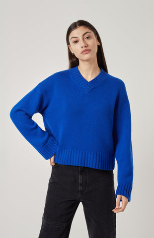 Cosy Cashmere Jumper In Blue