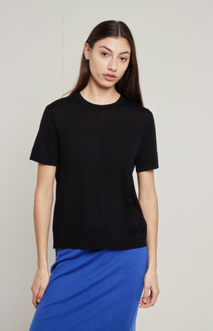 Merino T-Shirt In Black
