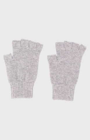 Women's Cashmere Fingerless Gloves In Brume