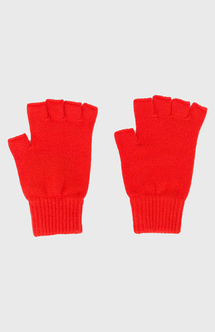 Women's Cashmere Fingerless Gloves In Coral