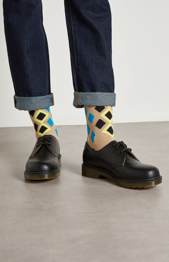 Women's Diamond Argyle Socks In Camel