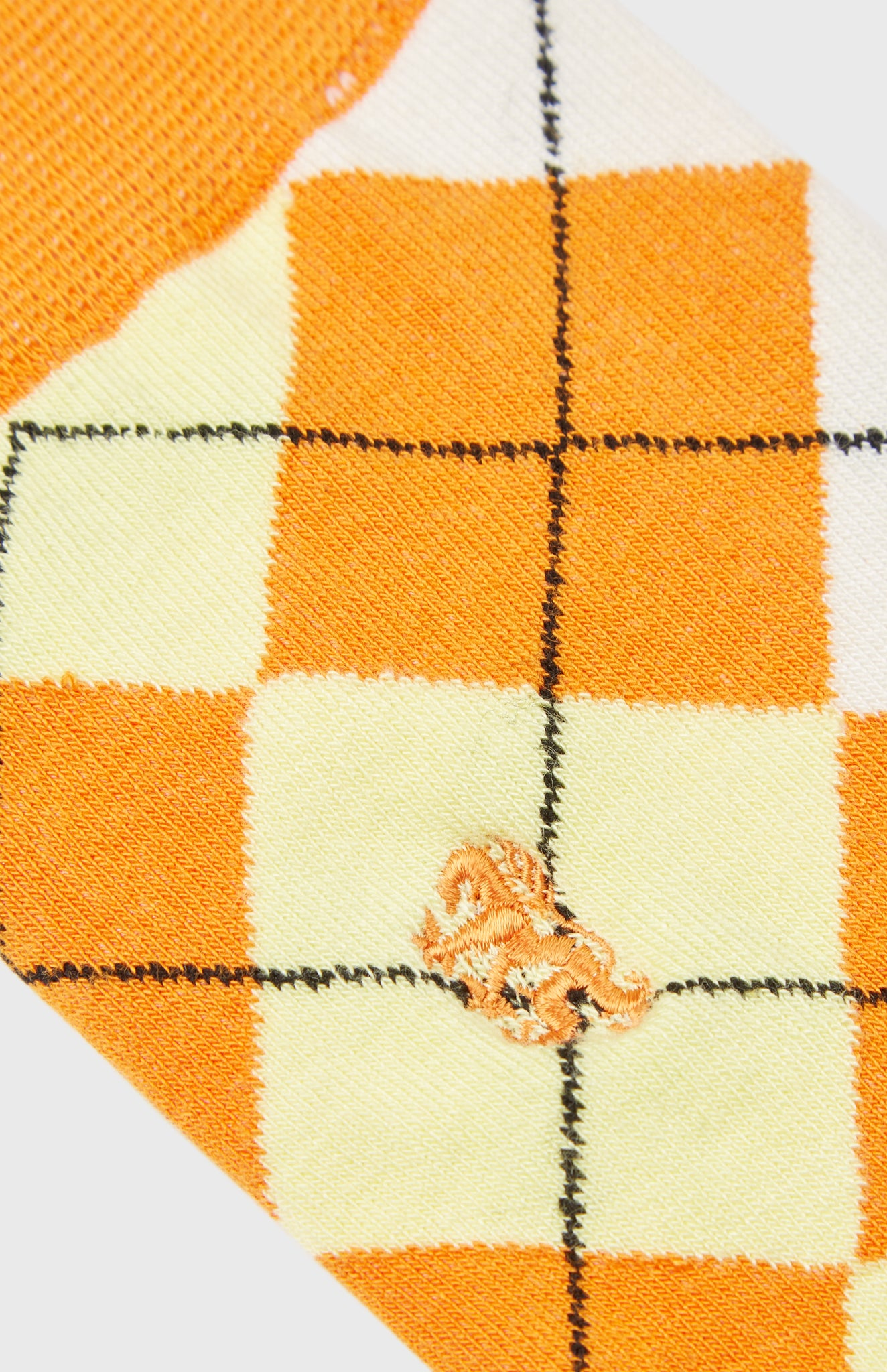 Men's Classic Argyle Socks In Multi Orange