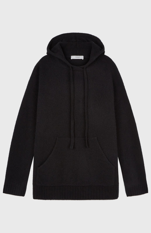 Oversized Soft Hoodie In Black