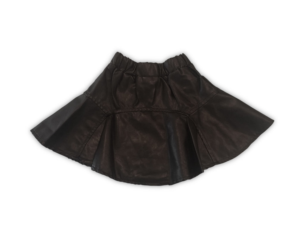 Kids Faux Leather Skirt