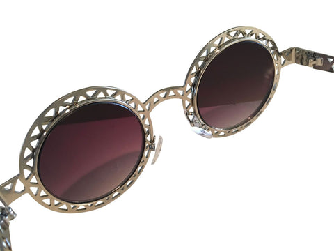 Women Vintage Circle Sunglasses