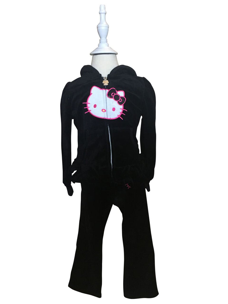 Hello Kitty Black Velour Set