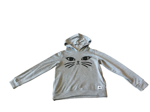 Girls Meow Sweater with Hood