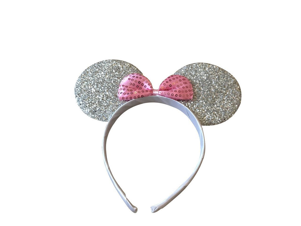 Minnie Ears Sparkly Pink Headband