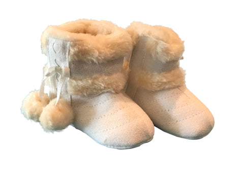 Baby White Fur Winter Boots