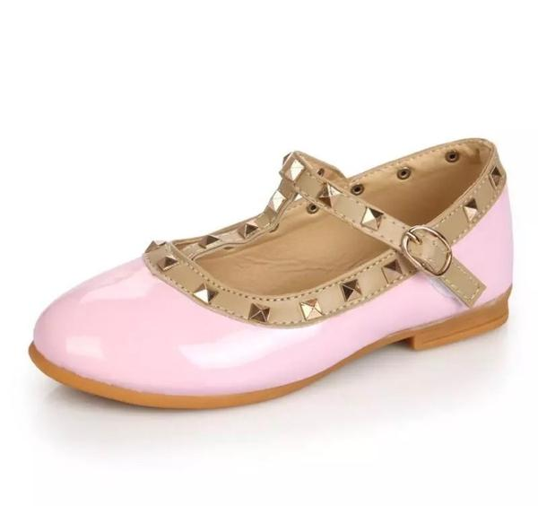 Pink Studded Mary Janes