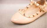 Nude Rock Studded Flats Kids Shoes