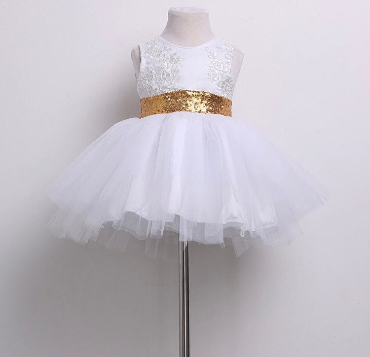 Harlow White Couture Dress (Sizes 6 months- 8 years)