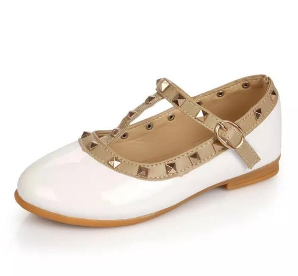 White Studded Mary Janes
