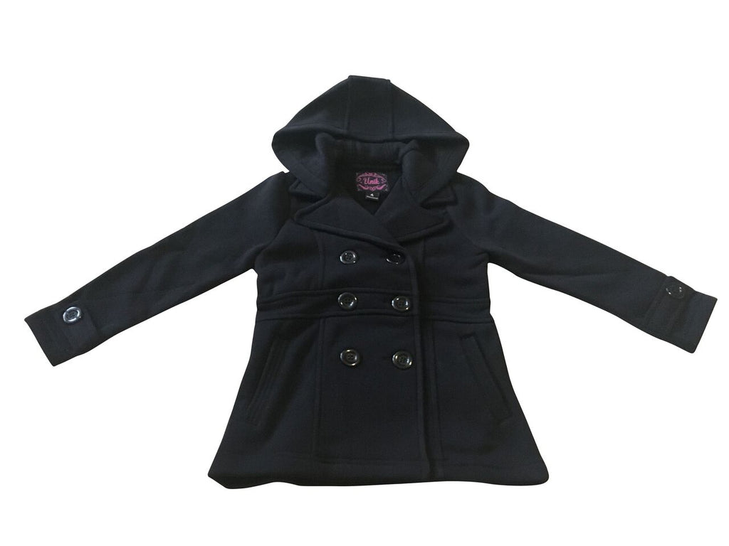 Girls Black Winter Coat With Hood