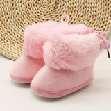 Pink Fur Winter Baby Boots