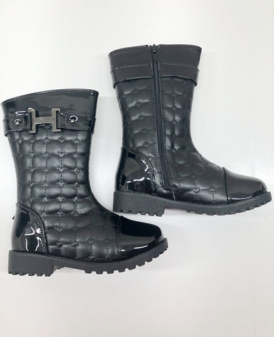 Quilted Heart Boots