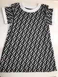 Fashionista Dress Black/White