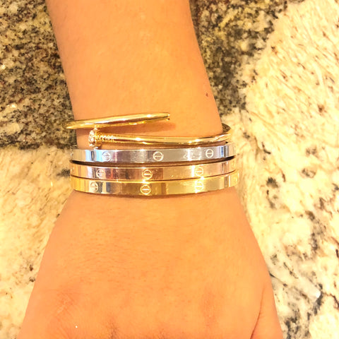 Kids Arm Candy Nail and Love Bangle Set