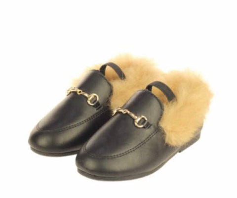 Horsebit Fur Slippers