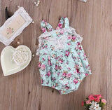 Butterfly Floral Romper