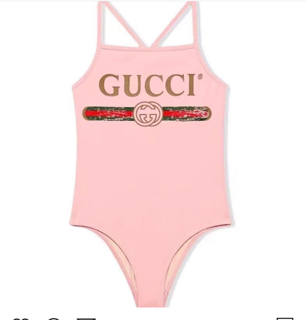 New Pink GG One Piece Bathing Suit