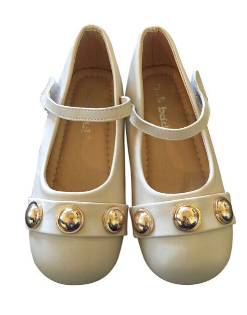 Beige and Gold Dot Shoes