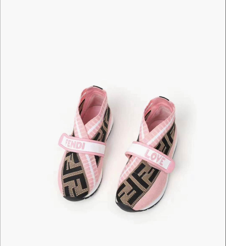 Pink F Sneakers