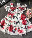 DG Red Floral Lace Dress