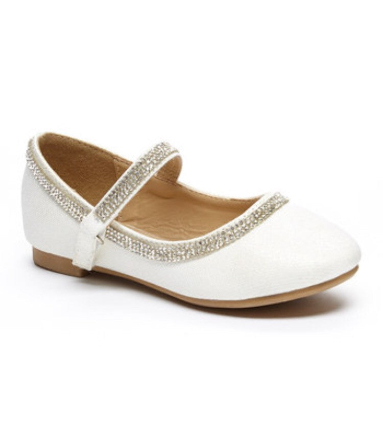 Glitter Rhinestone Shoes - White