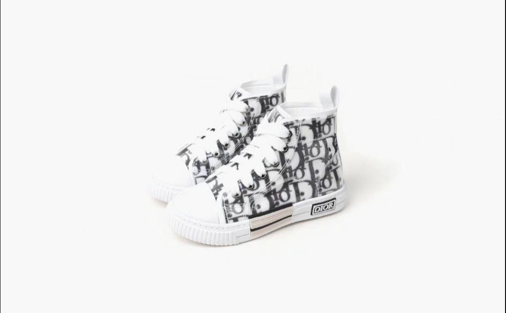 Kids Dior High Top Lace Sneakers