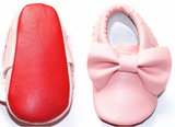 Red Bottom Bow Moccs Moccasins