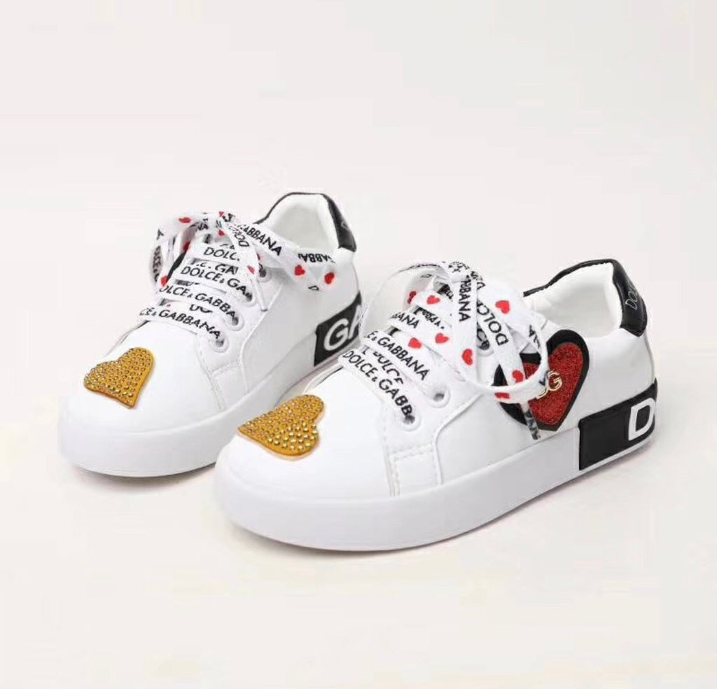 Kids DG Heart Sneakers