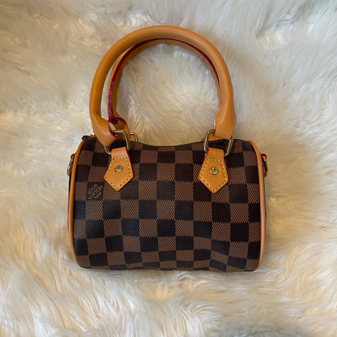Checkered Mini Speedy Bag