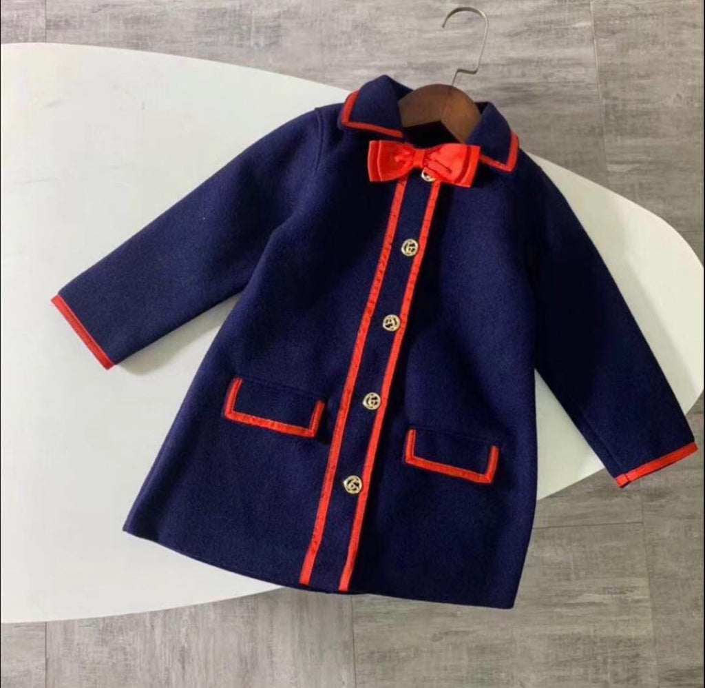 Navy Blue GG Coat