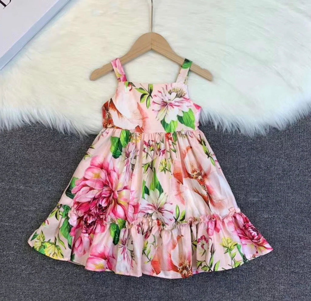 Baby Dolce DG Pink Floral Dress
