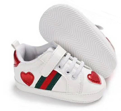 Baby Striped Heart Shoes